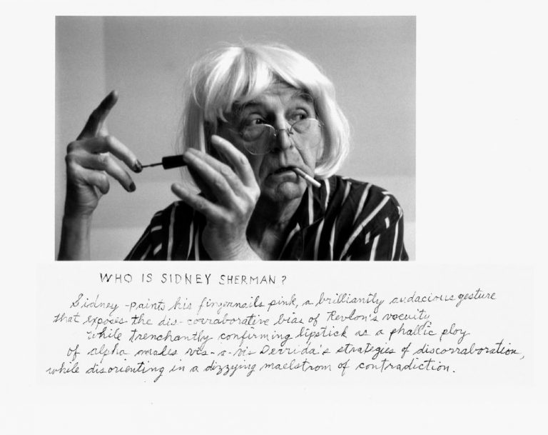 Duane Michals: 'Who is Sidney Sherman?'